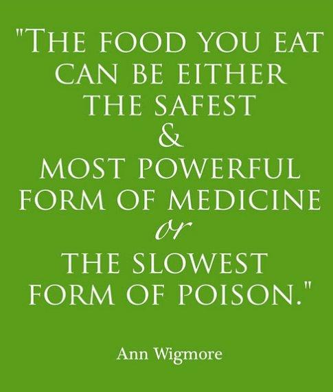 food is medicine or poison